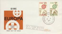 FDC Ierland - 1967 - Blanco / Open Klep - Europa-CEPT
