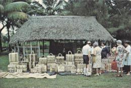 Craft Market With Baskets, Tonga - Commercial Print Wellington Unused - Tonga