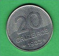 X119 Brasil 20 Cruzeiros 1983 - Brasile
