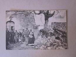 """Cartolina Reggio Calabria """"PELLARO - Terremoto 28 Dicembre 1908. Presso La Casa Parrocchiale"""" - Reggio Calabria"""