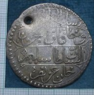 M_p > Tunisia Impero Ottomano Selim III Piastra 1217 ( 1802 ) Peso 15,3 Grammi BILLON ( Lega Argento / Rame ) - Tunisia