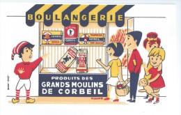 """Produits Des Grands Moulins De   """"   CORBEIL    """"       -   Ft  =  21 Cm  X 12.5 Cm - Food"""