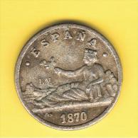 FICHAS - MEDALLAS // Token - Medal ~~ 1 Peseta 1870  Rep. Plateada - Profesionales/De Sociedad