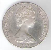 ISLE OF MAN ONE CROWN 1979 AG SILVER 300th Anniversary Of Manx Coinage - Monete Regionali