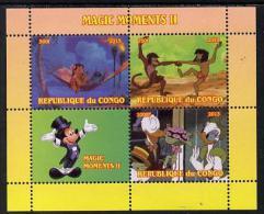 151569 - Congo 2013 Disney - Magic Moments #2 Perf Sheetlet Containing 3 Values Plus Label Unmounted Mint - Nuevas/fijasellos