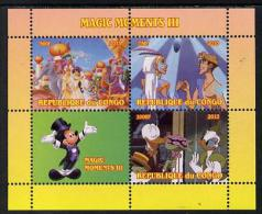 151572 - Congo 2013 Disney - Magic Moments #3 Perf Sheetlet Containing 3 Values Plus Label Unmounted Mint - Nuevas/fijasellos