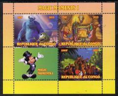 151566 - Congo 2013 Disney - Magic Moments #1 Perf Sheetlet Containing 3 Values Plus Label Unmounted Mint - Nuevas/fijasellos