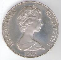 ISLE OF MAN ONE CROWN 1982 AG SILVER - Monete Regionali