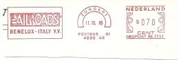 Nice Cut Meter RAILROADS Benelux - Italie  Zundert 11-10-1985 - Treinen
