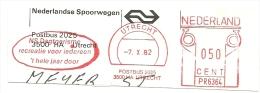 Nice Cut Meter NS Dagtoerisme Recreatie Voor Iedereen 't Hele Jaar Door Utrecht 7-10-1982 - Treinen