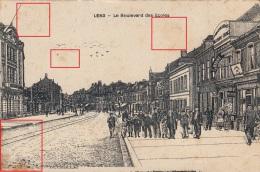 Photocarte Allemande- LENS- Le Boulevard Des écoles-DESSIN-dép62 (librairie Alexandre-Thomas)2scans - Lens
