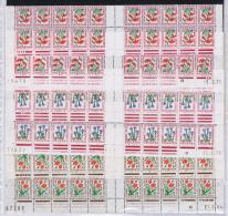 Coins Datés, 14 Strips, Part Of Sheets, MNH/** Timbre Tax