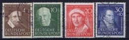 Bundespost Mi Nr 143 - 146  Used    1951 - Usati