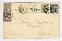 1899 - CP De MONACO Pour EGER (HONGRIE)