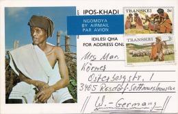 1979 TRANSKEI (Südafrika), 2 Fach Frankierung Auf Bild-Pk, Umtata > Germany - Transkei