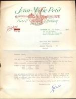 Faktuur Facture  Vins Jean Marie Petit - Ostende Oostende 1958 - Unclassified