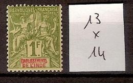Inde 13 * Côte 14 € - India (1892-1954)