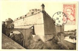 LANV7 - FRANCE RICHELIEU SUR CPA BREST LE CHÂTEAU 29/7/1936 - France