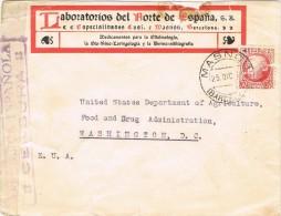 5472. Carta MASNOU (Barcelona) 1937. CENSURA Republica - 1931-Hoy: 2ª República - ... Juan Carlos I
