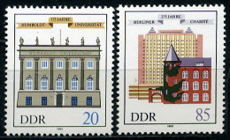 BOX03-03) DDR - 5x Michel 2980 / 2981 - ** Postfrisch - 175 Jahre Humboldt-Universität - Wert: 7,50 Mi€ - [6] Repubblica Democratica