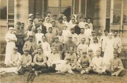 93 ST / SAINT OUEN - CARTE PHOTO  HOPITAL MILITAIRE - SOLDATS - INFIRMIERES ( 1916 ) - Saint Ouen