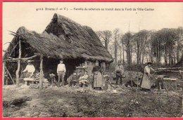 35 TRANS La Forêt Famille De Sabotiers Au Travail Dans La Forêt De Ville Cartier - Autres Communes