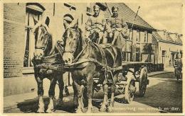 "NL Old Postcard ""Samenwerking Van Mensch En Dier""  Horse Unused - Paarden"