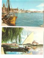 2 Tarjeta Postal Puerto Y Embarcadero  Valencia. - Valencia