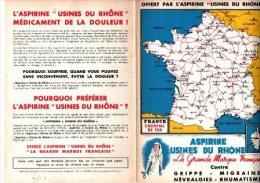 ASPIRINE-Usines Du Rhone- Carte De France-chemins De Fer - Cartes