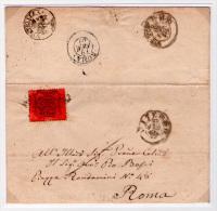 050 - 1869 - Pontificio -  Papal States - Kirchenstaat - 10 Cent. Su Lettera Da Vetralla A Roma Con Bollo VETRALLA F.d. - Etats Pontificaux