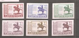 Argentina Sin Dentar  Pruebas De Color - Argentine