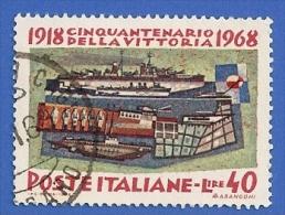 ITALIE ITALIA 1099 OBLITERE CINQUANTENARIO DELLA VICTTORIA - 1946-.. République
