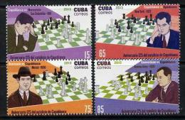 175492 - Cuba 2013 Chess - Capablanca Perf Set Of 4 Unmounted Mint - Sin Clasificación