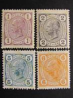 """AUSTRIA Impero-1904- """"Effigie"""" 4 Val. MH* (descrizione) - Nuovi"""