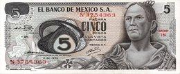 Banco De Mexico: $ 5 Pesos Estado De Zacatecas 1891-1914 UNC - Mexique