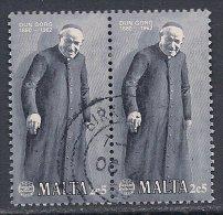 Malta ~ 1980 ~ D.Preca ~ PAIR ~ SG 645x2 ~ Used - Malta