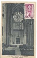 Cathédrale, Chartres, Carte Maximum, 1945    (M632) - Churches & Cathedrals