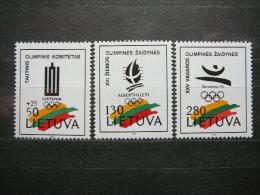 Lietuva Litauen Lituanie Litouwen Lithuania 1992 ** MNH # Mi. 496/8 Olympic Games - Lituanie