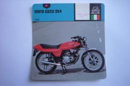 Transports - Sports Moto - Carte Fiche Moto - Moto Guzzi 254 - 1978 ( Description Au Dos De La Carte ) - Motociclismo