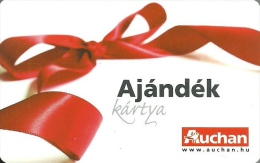 AUCHAN * HYPERMARKET * RED RIBBON * GIFT CARD * Auchan 01 A * Hungary - Gift Cards