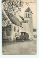 VILLY SAINT LEONARD -  Eglise Animée - Jolie Roulotte -  Edition Delaine - 2 Scans - Non Classés