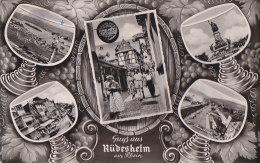 Allemagne - Gruss Aus Rüdesheim Am Rhein - Verre Vin Vignes - Rheingau