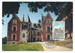 Amboise, Chateau, Clos Lucé, Léonard De Vinci - Carte Maximum,    (M651) - Castillos