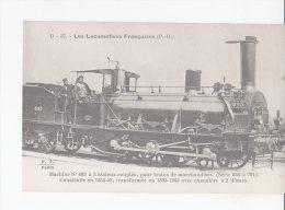 CPA-TRANSPORTS-TRAINS-LES LOCOMOTIVES-FRANCAISES-P.O - MACHINE N° 693 A VAPEUR SATUREE-POUR TRAINS DE MARCHANDISE-ANIMEE - Eisenbahnen