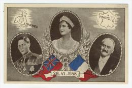 Souvenir Du 28-VI-1938 Entre George VI Et Albert Lebrun  Par C. Hirlemann - Historical Famous People