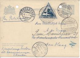 INDES NEERLANDAISES -  1933 -  ENTIER POSTAL AVEC COMPLEMENT D'AFFRANCHISSEMENT - - Nederlands-Indië