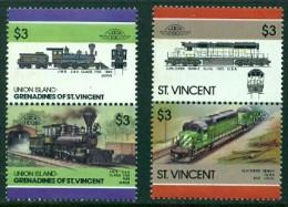 """St.Vincent & Union Island-1984-""""Japan,J.N.R. 2-6-0""""- MNH(**) - St.Vincent (1979-...)"""