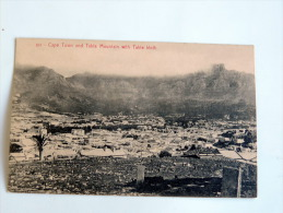 Carte Postale Ancienne  : CAPE TOWN And Table Mountain With Table Bloth - South Africa