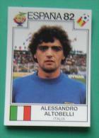 ALESSANDRO ALTOBELLI ITALY SPAIN 1982 #143 PANINI FIFA WORLD CUP STORY STICKER SOCCER FUSSBALL FOOTBALL - Engelse Uitgave