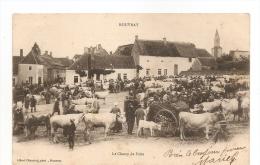 21 ROUVRAY LE CHAMP DE FOIRE 1903  TRES ANIMEE   2 SCANS - France